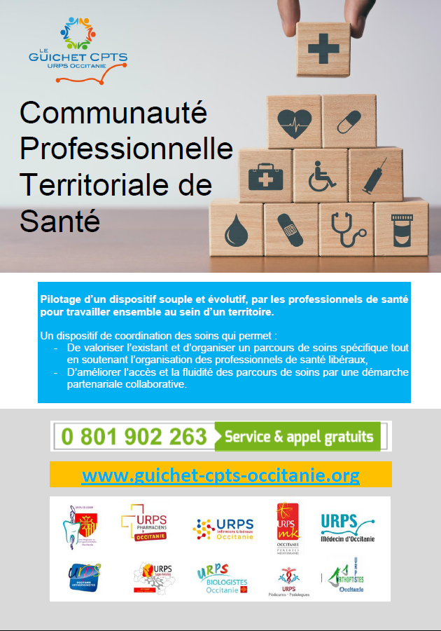 CPTS: votre URPS vous accompagne